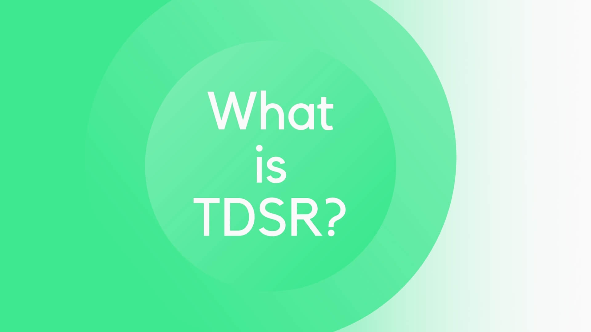 what is tdsr ratio