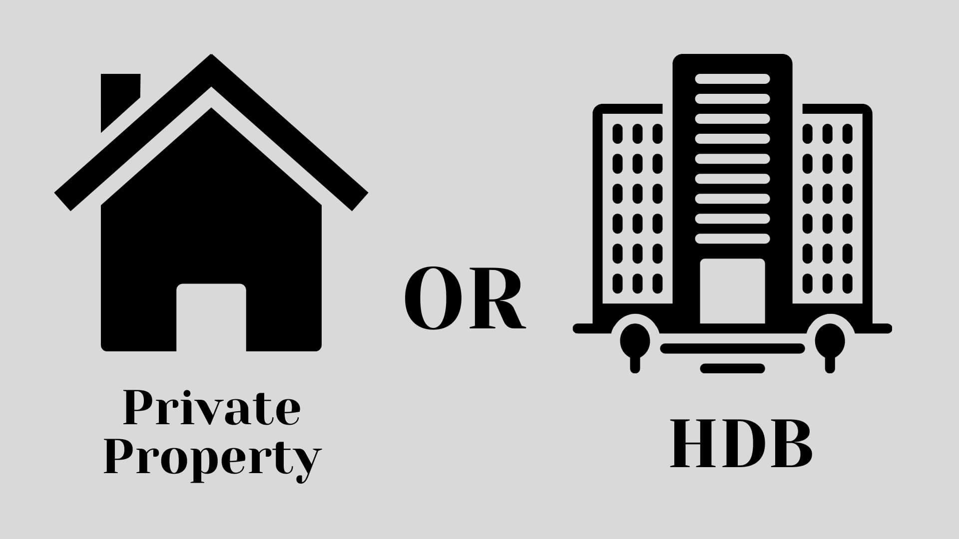 hdb vs private property home loan